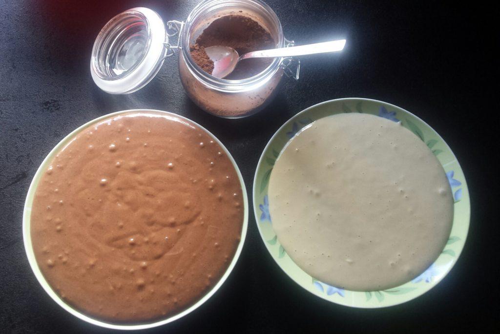 dwulokolowe ciasto do babki zebry
