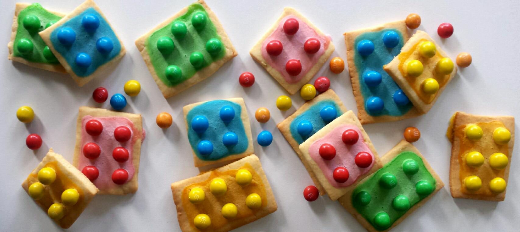 Ciastka Lego idelane na imprezę dla dzieci