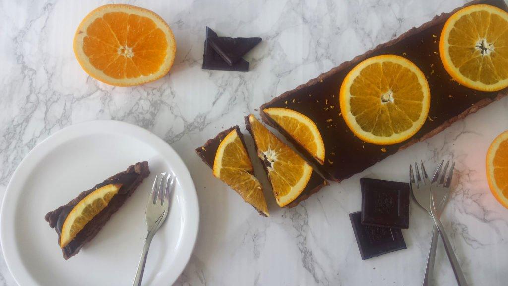 tarta czekoladowo-pomarańczowa